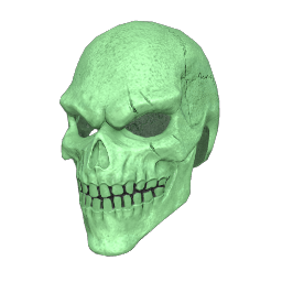Green Bone Skull Mask
